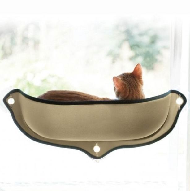 New Arrivals Cat Window bed Mounted Cat Bed Hammock Mat cat Lounger Perch Cushion Hanging Shelf