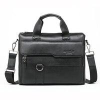 MEIGARDASS Genuine Leather Bags Men's For Handbags Fashion male business briefcase Messenger bag Large Capacity Men Laptop Bag