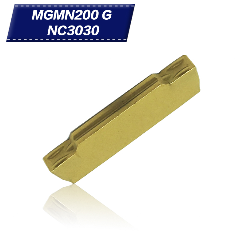 10PCS MGMN200 G NC3030 Carbide Insert Grooving Cutting Tools CNC Turning Tool For Metal Cutting Plate Turning Chisel Ferramentas
