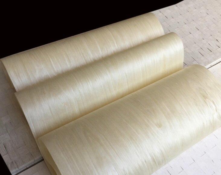 Length:2.5meters Width:60cm Thickness:0.25mm Light White Maple Veneer Furniture Wood Door Decorative Veneer