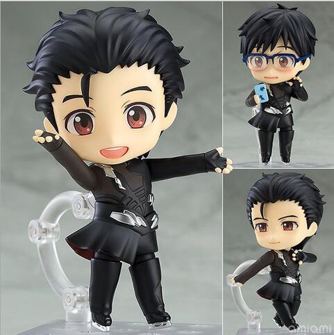 NEW Hot 10cm YURI!!! On ICE YURI On ICE Katsuki Yuri Black Action Figure Toys Collection Doll Christmas Gift With Box