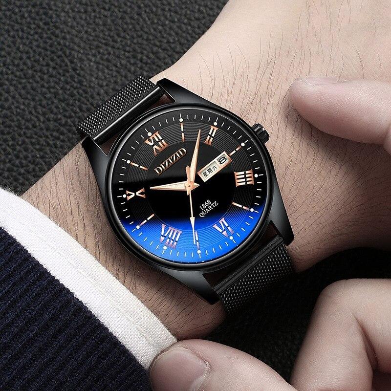 DIZIZID Business Mens Watch Casual Quartz Special Ultra-thin watch Luminous