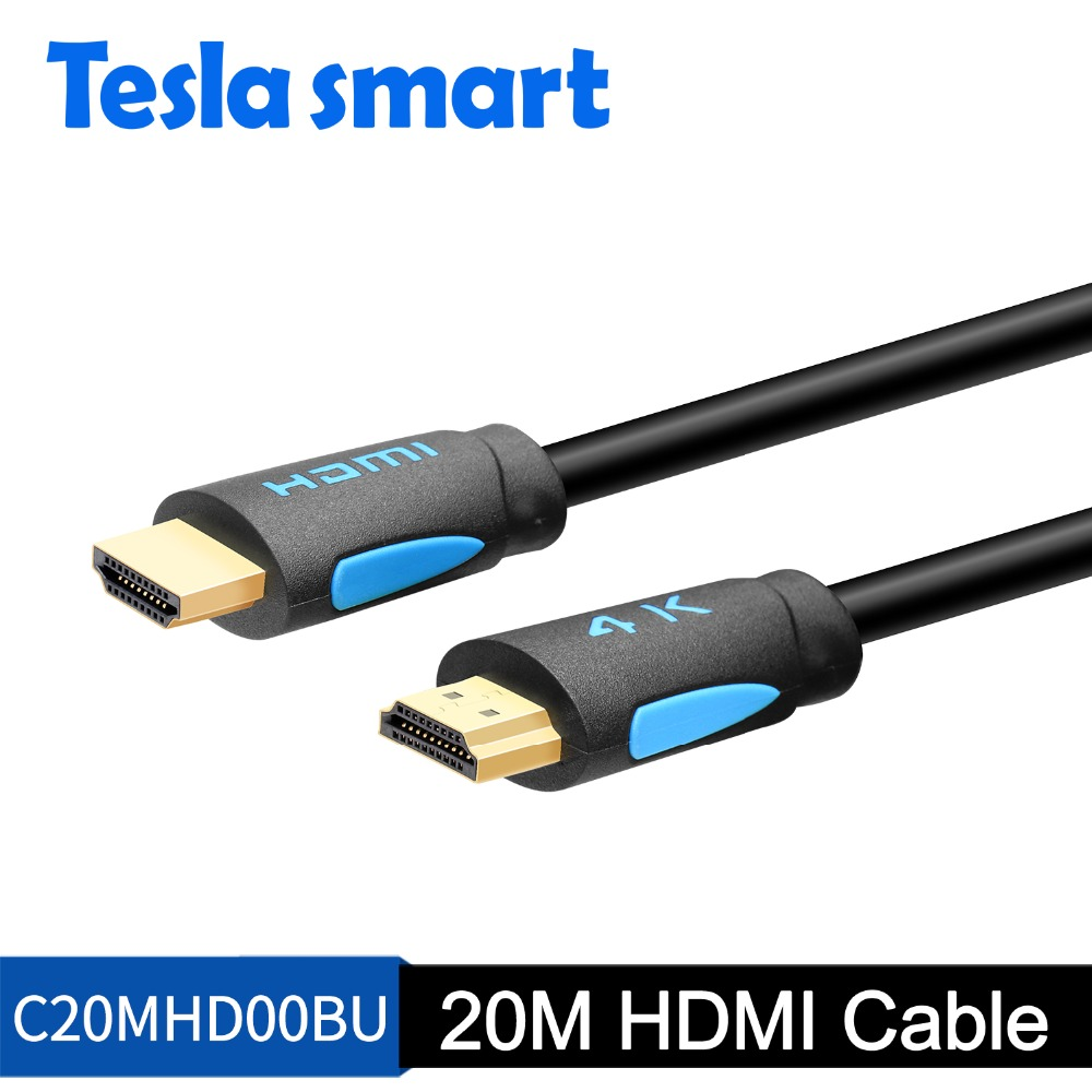 Tesla Smart 20m HDMI Cable 1080P@60Hz 20m HDMI To HDMI Cable HDMI Cable Adapter 3D For Xbox360 LCD PS3 PS4 Projector Computer