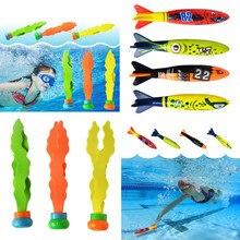 Акула Торпедо ракета метание игрушка бассейн игра игрушка морские водоросли трава плавательный бассейн Летний пляж палочки игрушки для детей