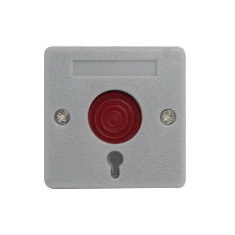 imágenes para (10 unidades) W * H * D 52mm * 52mm * 27mm NC/NO opciones de uso del interruptor de plástico para el sistema de alarma botón de pánico de emergencia swtich PB-68