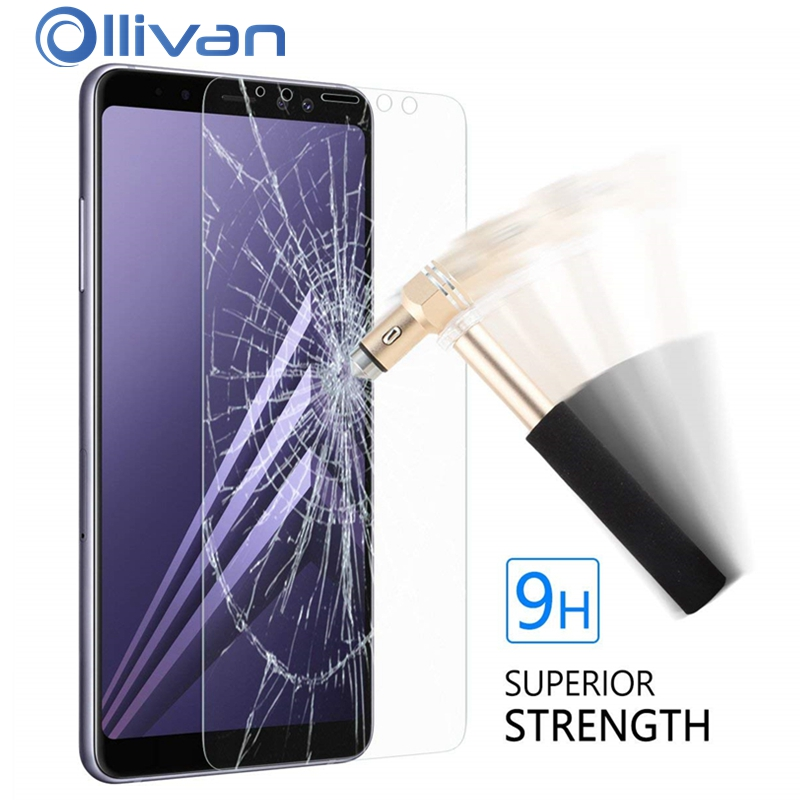 Glass on the for samsung Galaxy A7 A8 A5 A6 2018 Protect Screen protector on Phone For Samsung A8 2018 A6 2018 Tempered Glass