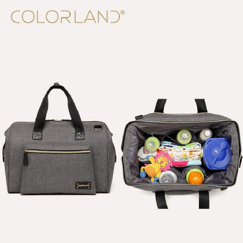 ФОТО Colorland Large Diaper Bag Organizer Brand Nappy Bags Baby Travel Maternity Bags For Mother Baby Stroller Bag Diaper Handbag