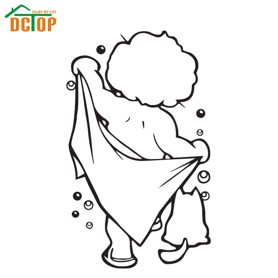 Dctop Take A Bath Baby Wall Stickers Waterproof Bathroom Tile Wall Decals Home Decor Adhesive