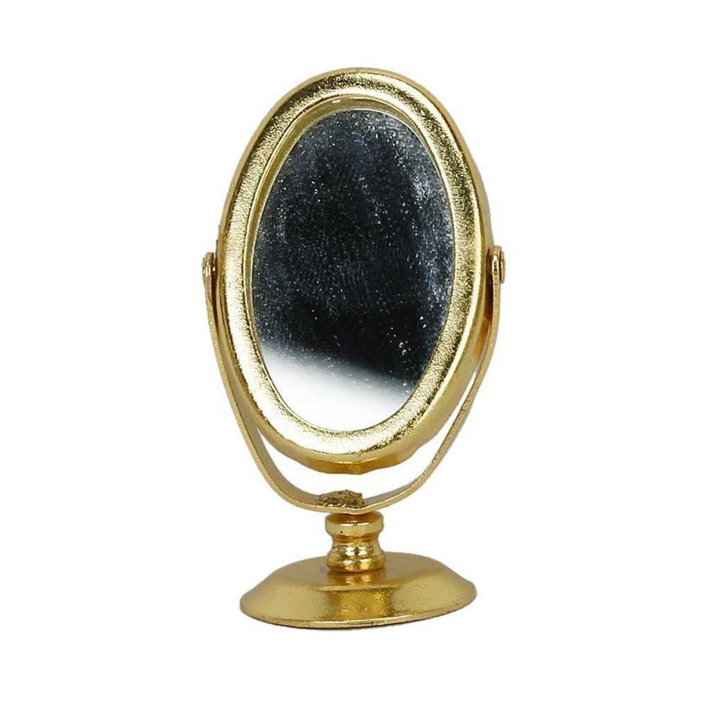 1/12 Dollhouse Miniature Metal Mirror Mirror Gold