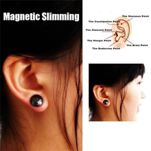 New 1 Pair Healthy Stimulating Acupoints Stud Earring Bio Magnetic Therapy Weight Loss Earrings Magnet In Ear Eyesight Slimming