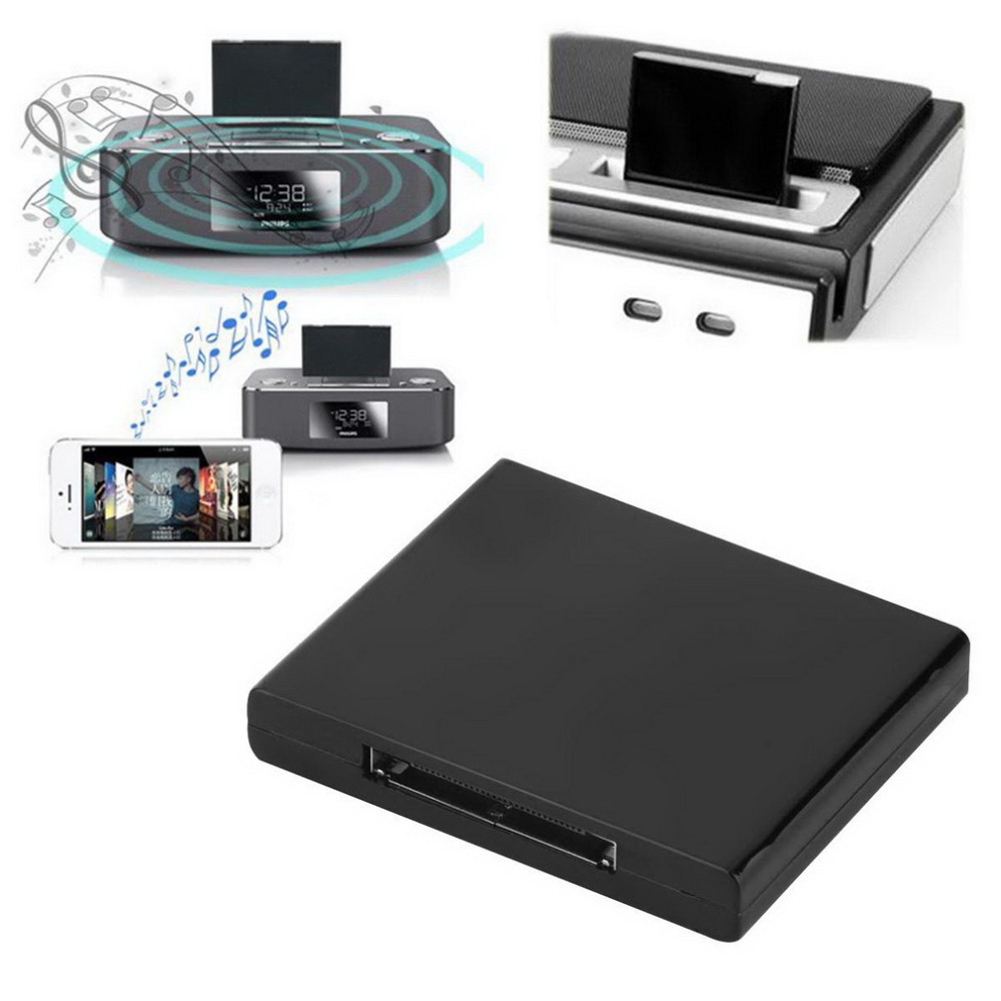 30-Pin Dock Speaker Hot Worldwide 1pcs Bluetooth A2DP Music Receiver Adapter Home Audio For iPod For iPhone