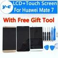 Para huawei mate 7 display lcd + de tela de toque 100% nova substituição conjunto da tela para ascend mate 7 phone frete grátis em estoque