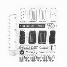 ФОТО different ice cream metal cutting dies or rubber clear stamps for scrapbooking diy embossing folder paper maker template decor