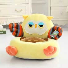 2017 New Green Cartoon Beanbag Giraffe Chair Babies Children Plush Toys Kid Sofa Baby Seat Infant Stool Tatami Gaming Chair Frog
