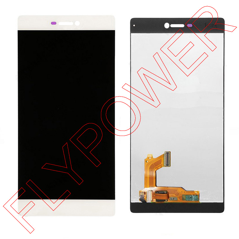 ФОТО For Huawei Ascend P8 GRA-UL10 GRA-L09 1920X1080 FHD LCD Screem Display With White Touch Screen Digitizer Assembly; 100% warranty