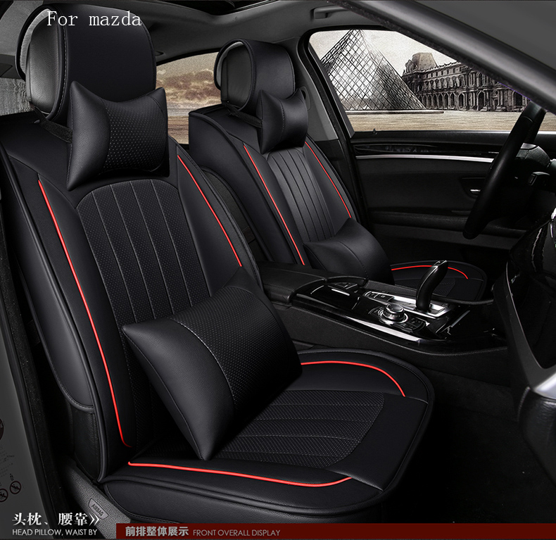for mazda 2 3 6 mazda cx-5 small hole ventilate wear resistance PU ather Front&Rear full car seat covers four seasons