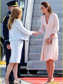 2016 nova kate middleton princesa dress moda v-neck ruffles longos vestidos de manga