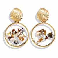 Neue Acryl Harz Ohrringe Für Frauen Trendy Runde Stud Ohrringe Weibliche Mode Geometrische Hochzeit Partei Schmuck