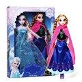 Nuevo 2016 Populares Juguetes Princesa Ana Y Elsa Muñeca 30 cm Juguetes 2 unids/lote Boneca Brinquedo Regalos Juguetes Para Niñas