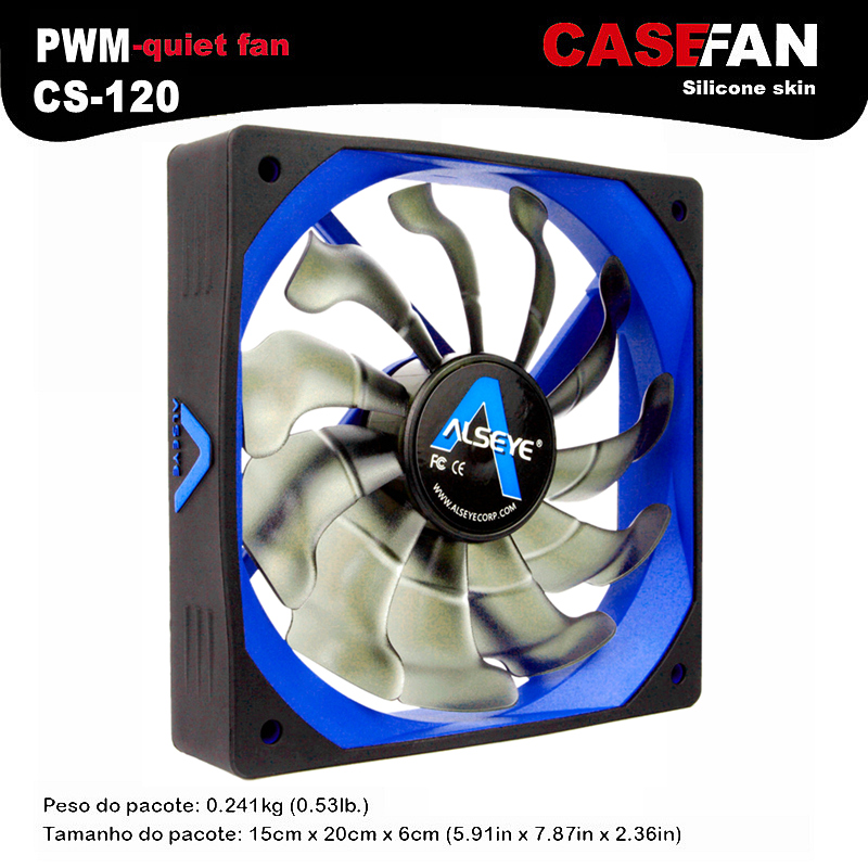 ALSEYE Computer Fan Cooler 120mm/80mm/90mm, LED 3pin / 4pin DC 12V Fan, Unique Air Flow and Air Volume Comprehensive Cooling Fan computer water cooling fan delta pfc1212de 12038 12v 3a 12cm strong breeze big air volume violent fan