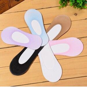 3Pairs Invisible Womens Socks Slippers Girls Invisible Slippers Socks Short Shallow Mouth Boat Sock Slippers Summer Meias Sokken