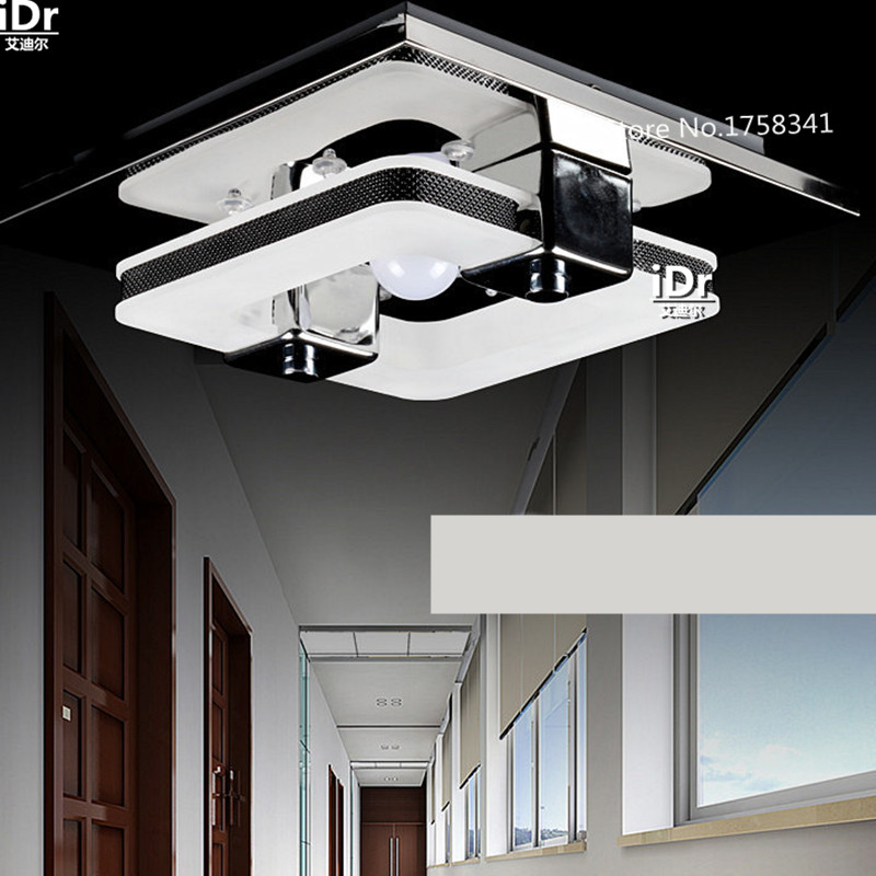 ФОТО New Hot sales LED Ceiling Lights Stainless steel Acrylic Corridor lights  Ceiling lamps 110V-220V Length 230 mm
