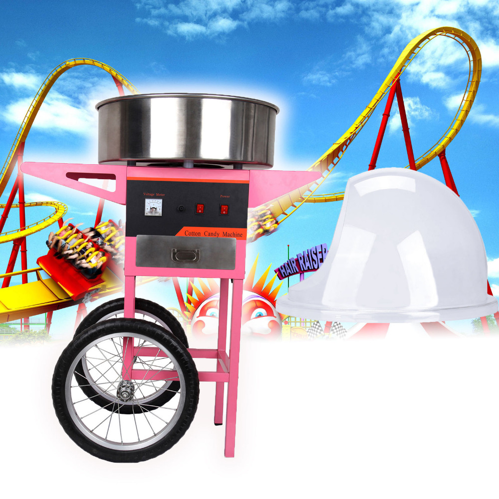 1300 W Candyfloss électrique faisant la Machine maison coton sucre barbe à papa fabricant carnaval fête + bulle couverture