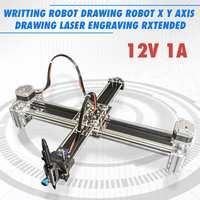 12 В 1A 2 оси письмо и рисование робот X Y оси рисунок лазерная гравировка Расширенный пишущий робот принтер машина