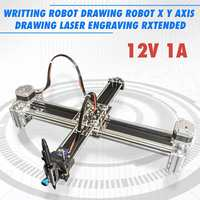 12V 1A 2 Axis Writing Drawing Robot X Y Axis Drawing Laser Engraving Extended Writing Robot Printer Machine