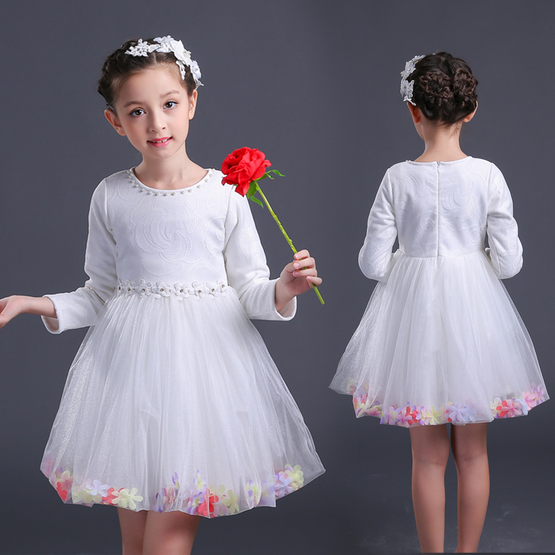 Cheap for all in-house products wedding dress for girl kids winter