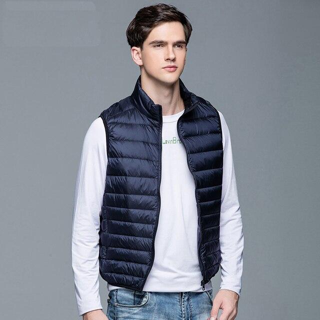 2020 New Men's Winter Coat 90% White Duck Down Vest Portable Ultra Light Sleeveless Jacket Portable Waistcoat for Men 4