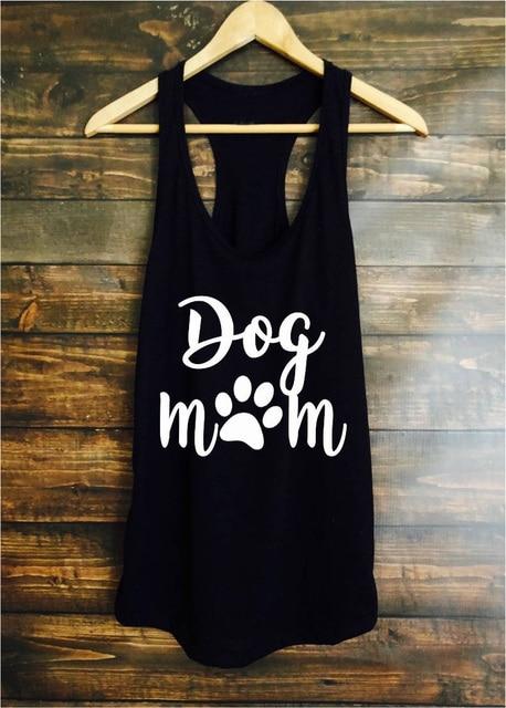 Dog mom slogan paw graphic dog lover women fashion sexy summer  vest undershirt singlet sleeveless garment cute mother art tanks