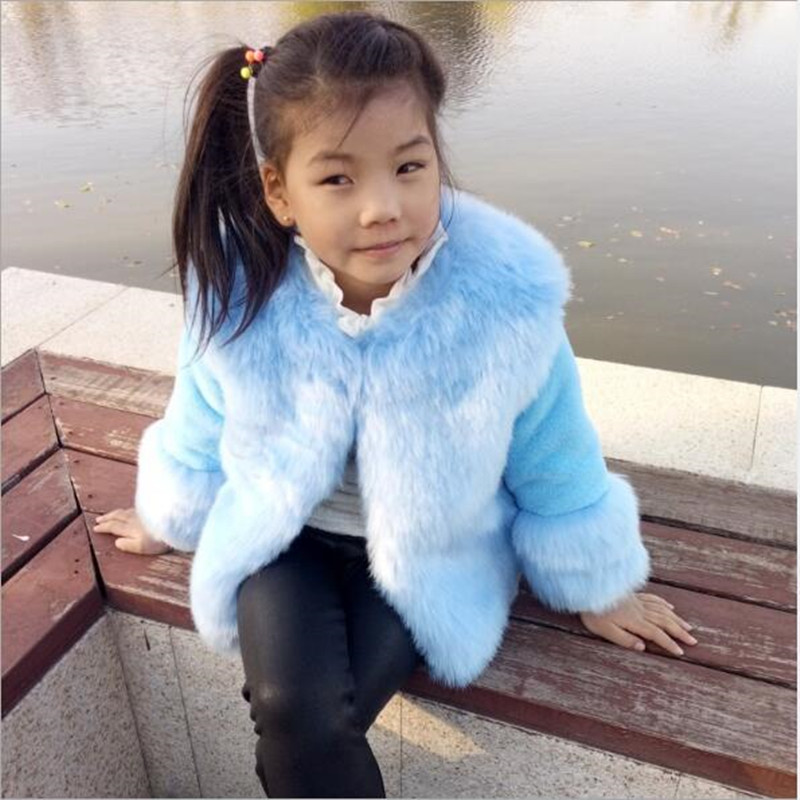 e26835e10 Clobee 2018 Faux Fur Coat Childrens Clothing Jacket Stitching Thick ...