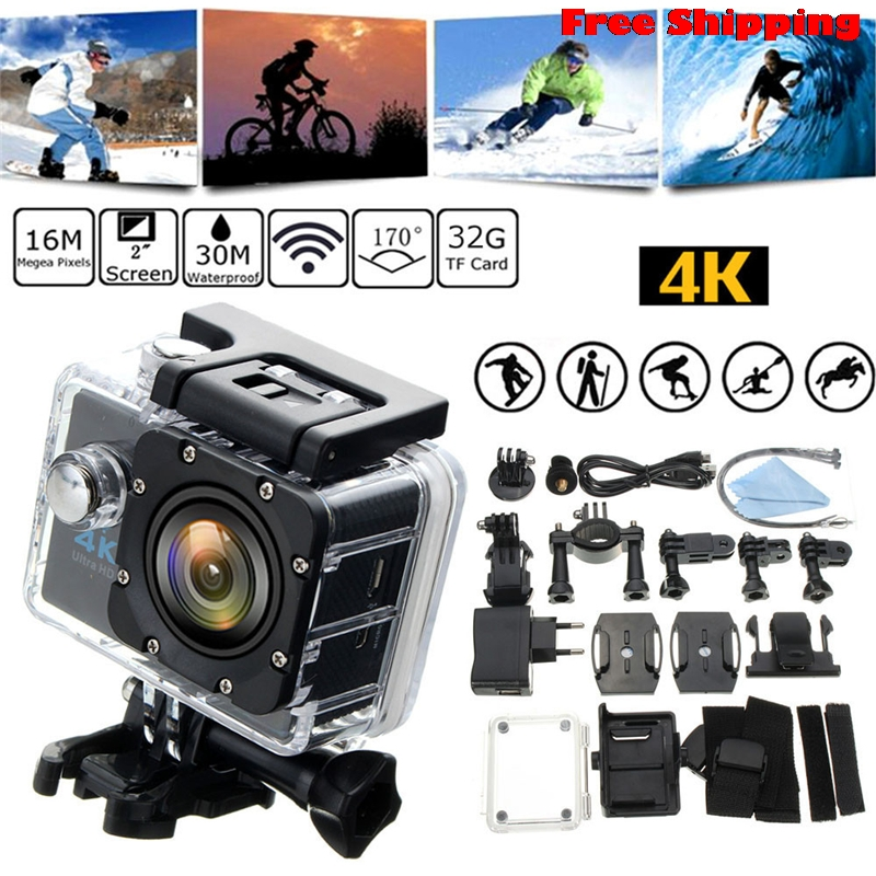 Waterproof 4K SJ9000 Wifi HD 1080P Ultra Sports Action Camera DVR Cam Camcorder Supports Multiple Video Recording Drop Shipping