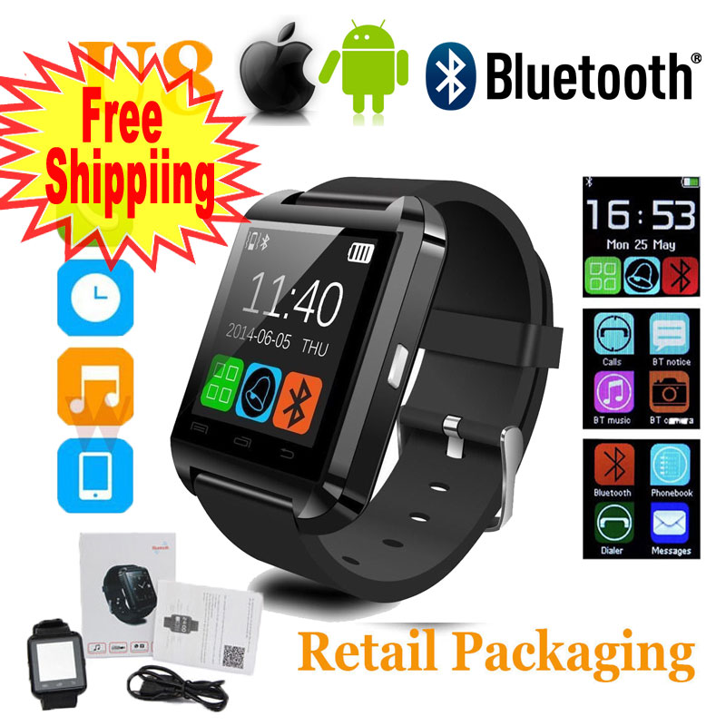 Black Bluetooth Android Smart Mobile Phone U8 Wrist Watch ...
