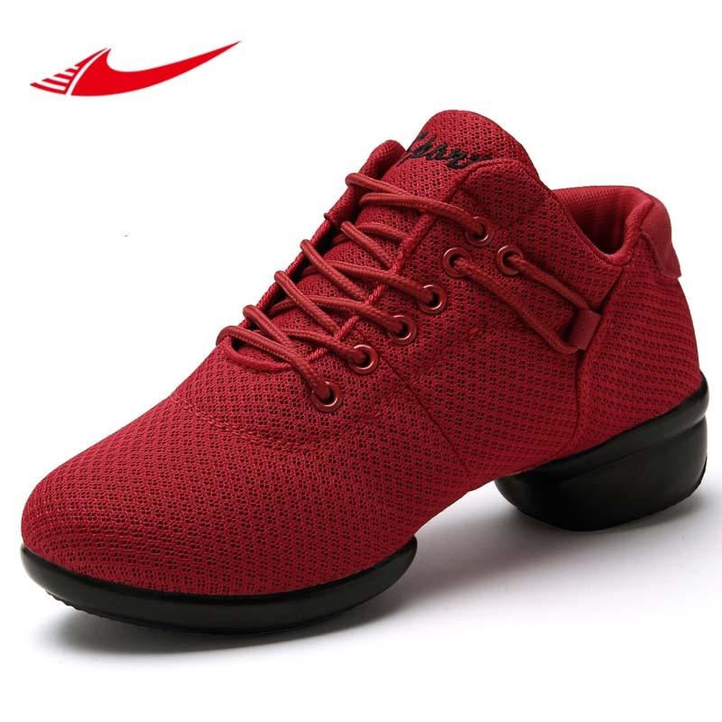 Soft Women Dance font b Shoes b font Ladies Breathable Non slip Platform Sneakers Lightweight Zapatos