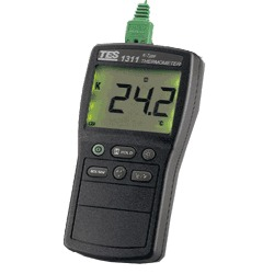 TES-1311/1311A/1312A Digital Industrial K Type Thermocouple Thermometer Temperature With Backlight LCD Display цена