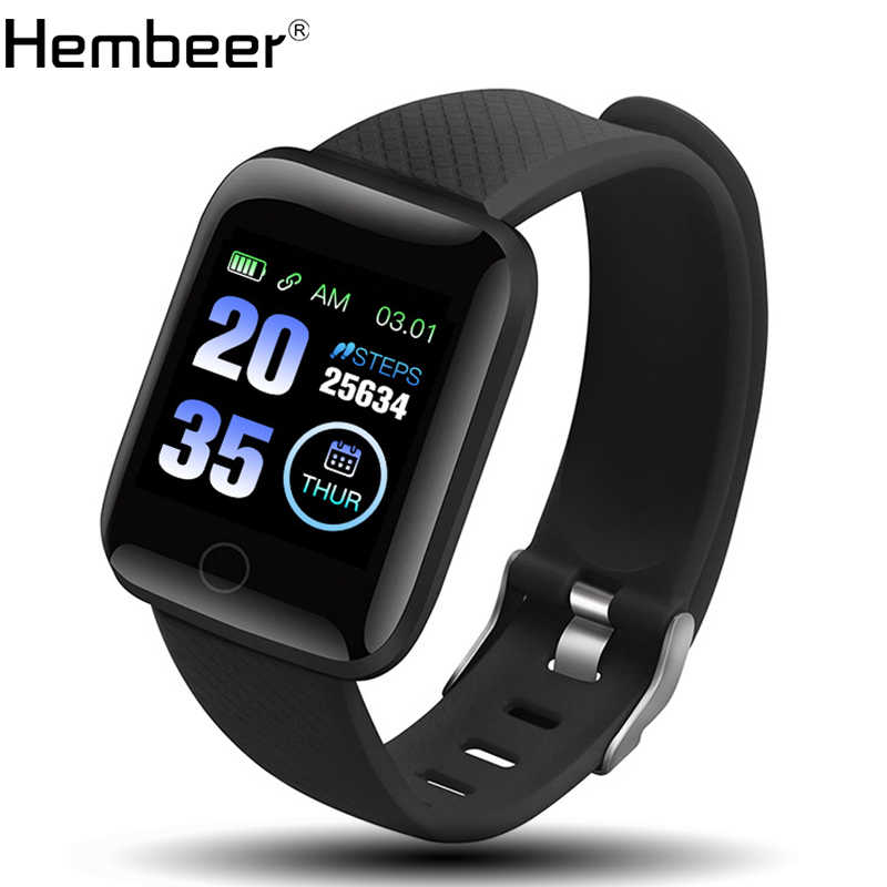 Hembeer D13 Smart Bracelet Men Women Fitness Tracker Heart Rate Monitor Smart Wristband Blood Pressure Pedometer for Android IOS