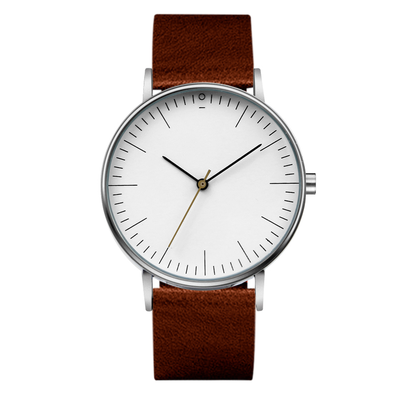 Chronos Men Watch 2018 New Design Fashion Quartz Watches Minimalist Leather Men's Wristwatch Religion Masculino цена и фото