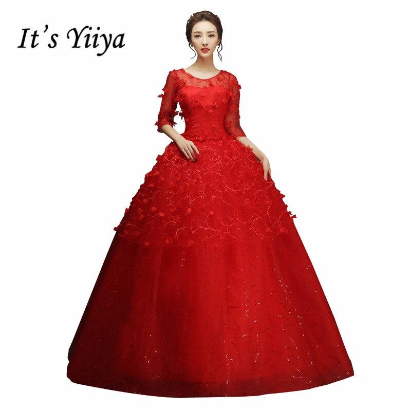 2017 Summer Real Photo Transparent Half Sleeves Wedding Dresses Cheap Red White Bride Gowns Custom Made Vestidos De Novia XXN142