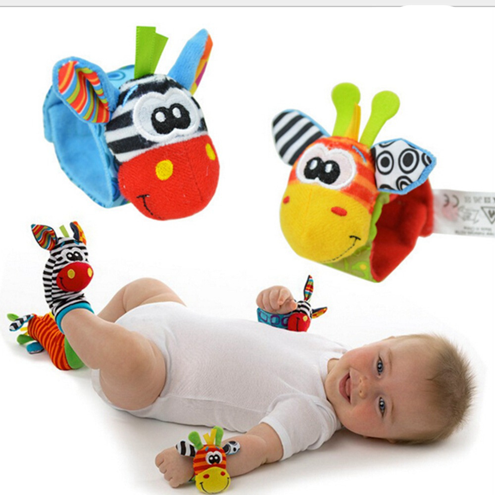 Soft Baby Toys : Pcs new baby toy soft wrist rattles hand bell