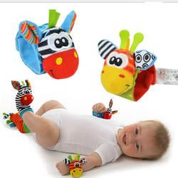 1 шт. мягкий животных носки колокольчик на запястье полосы звук руки ноги колокол животное носки внимание ребенка Дети Интеллектуальное