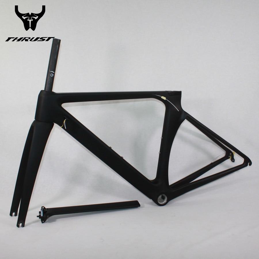 promo code cbbe9 8c4c0 US $405.6 35% OFF|Chinesische Carbon Rennrad Rahmen T1000 Straße Fahrrad  Rahmen Carbon aero 48/50/52/54/56 cm mit Gabel + Headset + Sattelstütze ...