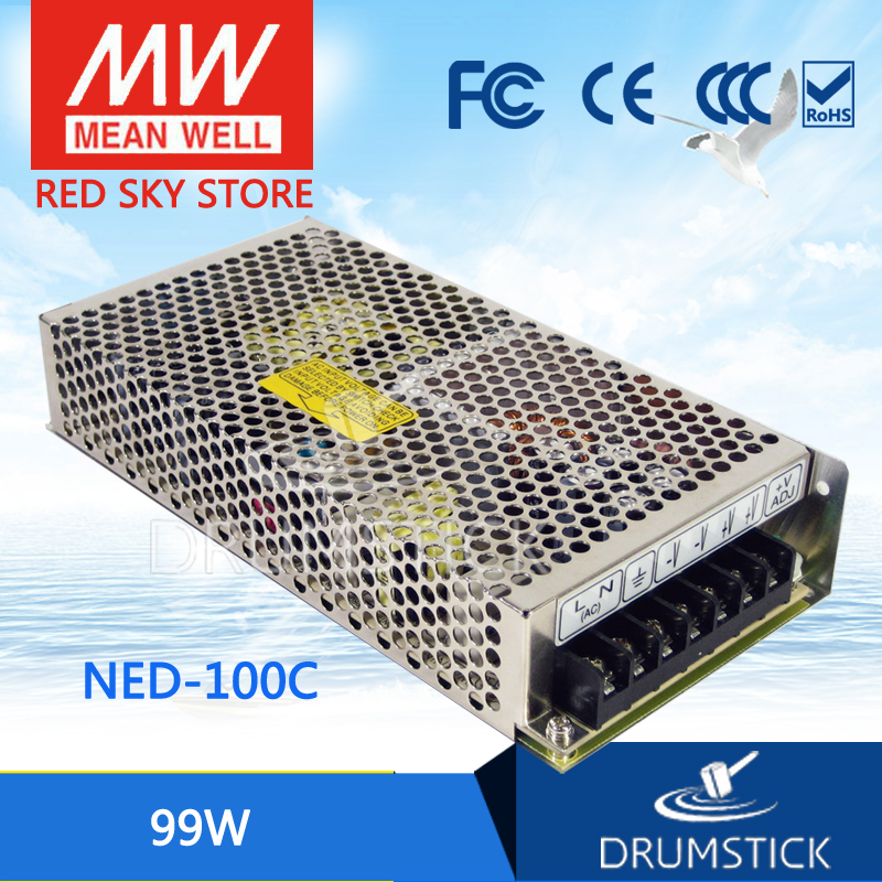 (12.12)MEAN WELL original NED-100C meanwell NED-100 99W Dual Output Switching Power Supply hamlet ned r
