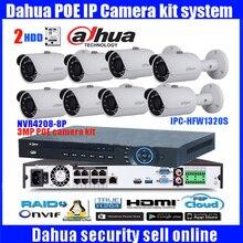 Dahua 8 Ch POE NVR4208-8P 1080P Video Ourput 8PCS 3 mp Weatherproof CCTV IP Camera DH-IPC-HFW1320S Security System camera