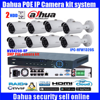 Dahua 8CH CCTV NVR4208 System 8 Ch POE NVR 1080P Video Ourput 8PCS 3 Mp Weatherproof