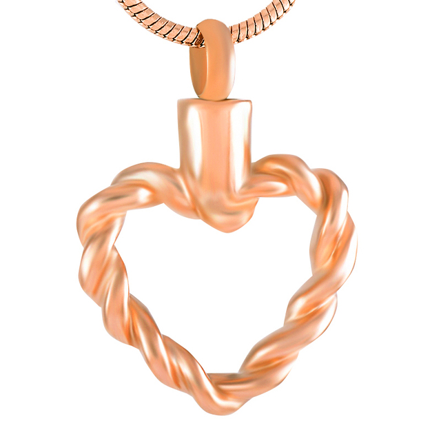 Wire Heart Urn Necklace