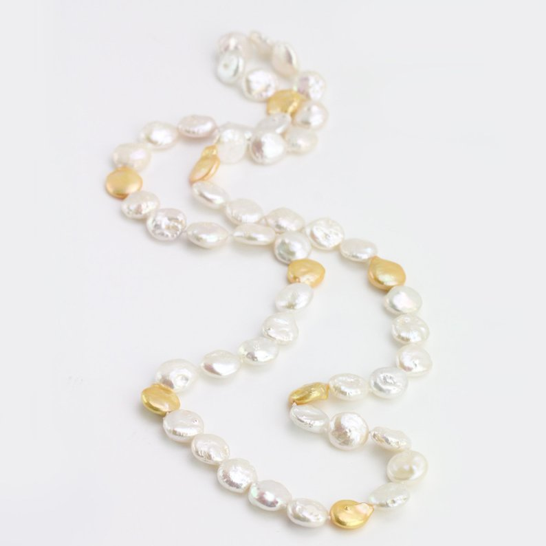 12mm Coin Freshwater Pearl Necklace,40inches Long Pearl Jewelry,Perfect Party Women Gift Jewelry12mm Coin Freshwater Pearl Necklace,40inches Long Pearl Jewelry,Perfect Party Women Gift Jewelry