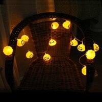 2.5 M LED Bí Ngô Hộp Sọ Xương Lồng Đèn Trang Trí Đèn Halloween Kinh Dị Trang Trí Cảnh April Fool Day của Nguồn Cung Cấp