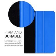 цена на 1PCS Car Vinyl Film wrapping tools Blue Scraper squeegee with felt edge Car Styling Stickers Accessories